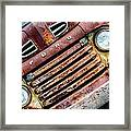Rusty Ford Grill Framed Print
