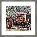Rusty Old Tractor Framed Print