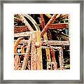 Rusty Railings Framed Print