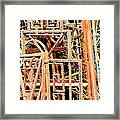 Rusty Railings Square Framed Print