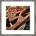Rusty Tools I With Texture Framed Print
