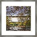 Ryot Covered Bridge And Stream Framed Print
