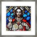 Sacred Heart Of Jesus In Stained Glass Framed Print