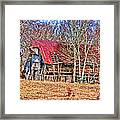 Sad Barn -  Featured In 'old Buildings And Ruins' Framed Print