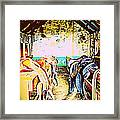 I Like To Be Hiding In The Saddle Room Framed Print