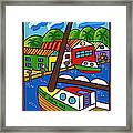 Sailboat In The Window Framed Print