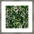 Salad Geometric Circle Segment Pattern Framed Print