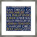 San Diego Chargers Framed Print