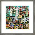 San Francisco Illustration Framed Print