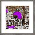 San Xavier Del Bac Church C.1885 Number 1  Tucson Arizona 1885-2008 Framed Print