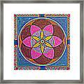 Sand Mandala Framed Print