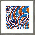 Sanguine And Blue Abstract Framed Print