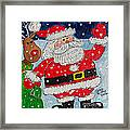 Santa And Rudolph Framed Print