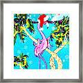 Santa Baby Flamingo Framed Print