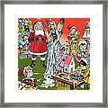 Santa Claus Toy Factory Framed Print by Jesus Blasco