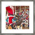 Santa Go Round Framed Print