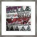 Santa's Truckload Framed Print