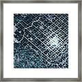 Satellite View Of Fields In Sonora Framed Print