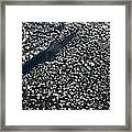 Satellite View Of Scattered Clouds Framed Print