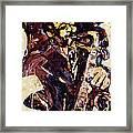 Sax Man One Framed Print