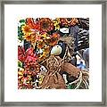 Scarecrow In A Chair Framed Print