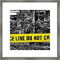 Scene Of The Crime Framed Print by Olivier Le Queinec