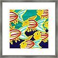 School Of Fish Framed Print