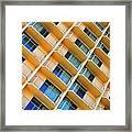 Scratchy Hotel Facade Framed Print