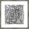 Scribble For M.l.b. Here I Come Framed Print