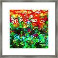 Scribble Thicket Framed Print