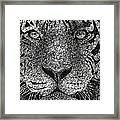 Scribble Tiger Framed Print