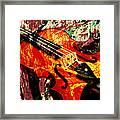 Scribbled Fiddle Framed Print