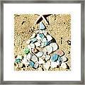 Sea Glass Tree Framed Print