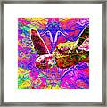 Sea Turtle In Abstract V3 Framed Print
