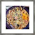 Seafood Fetticinni Alfredo At Cafe Cups Restaurant In Homer-ak   Framed Print