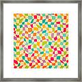 Seamless Color Mosaic Background Framed Print