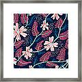 Seamless Floral Pattern Framed Print