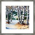Seasonal Transition Framed Print