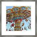 Seaswings At Santa Cruz Beach Boardwalk California 5d23897 Framed Print by Wingsdomain Art and Photography