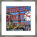 Seattle Market  Framed Print