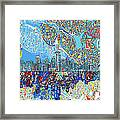 Seattle Skyline Abstract 7 Framed Print