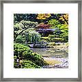 Seattle Tea Garden Framed Print