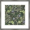 Seaweed Wallpaper Design Framed Print
