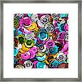 Sequins Abstract Framed Print