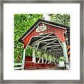 Shafer Covered Bridge Framed Print