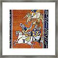 Shahnameh Ferdowsi Rostam And Sohrab Photos Of Persian Antique Rugs Kilims Carpets  Framed Print
