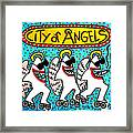 Sharks In The City - City Of Angels Framed Print