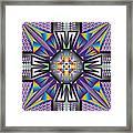 Sharp Tile Art Framed Print