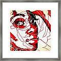 She Pop Art Rose Framed Print