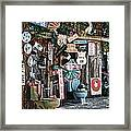 Shed Toilet Bowls And Plaques In Seligman Framed Print